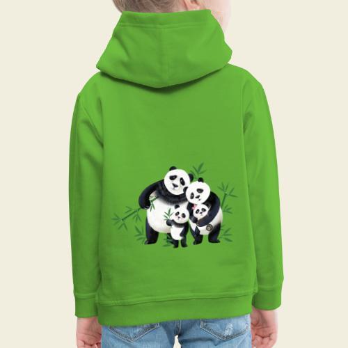 Pandafamilie zwei Kinder - Kinder Premium Hoodie