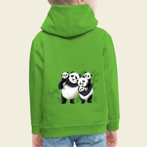 Pandafamilie drei Kinder - Kinder Premium Hoodie
