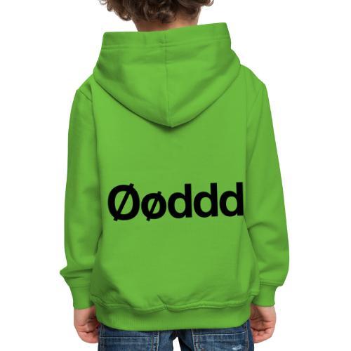 Øøddd (sort skrift) - Premium hættetrøje til børn