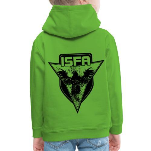 isfa logo 1c schwarz - Kinder Premium Hoodie