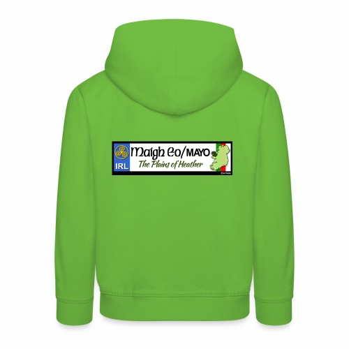 CO. MAYO, IRELAND: licence plate tag style decal - Kids' Premium Hoodie