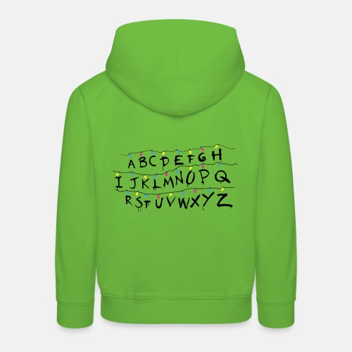 Stranger Things Alphabet - Kinder Premium Hoodie