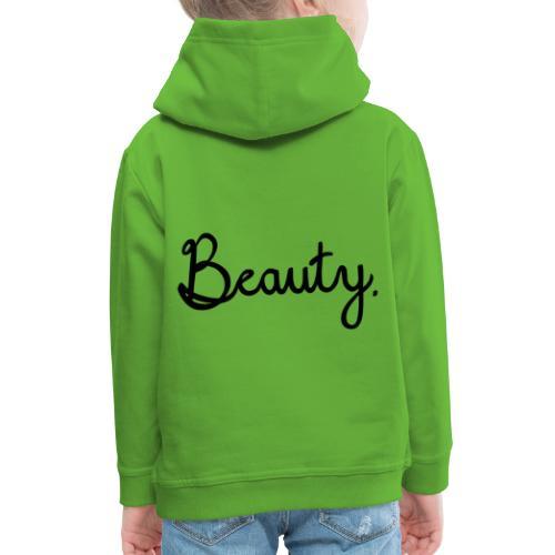 Beauty Schwarz - Kinder Premium Hoodie