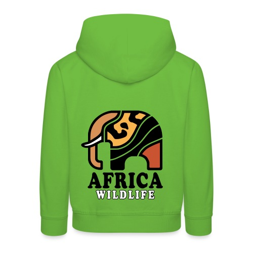 Elefant I AFRICA Wildlife - Kinder Premium Hoodie