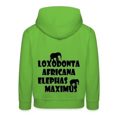 LOXODONTA AFRICANA - ELEPHAS MAXIMUS - Kinder Premium Hoodie