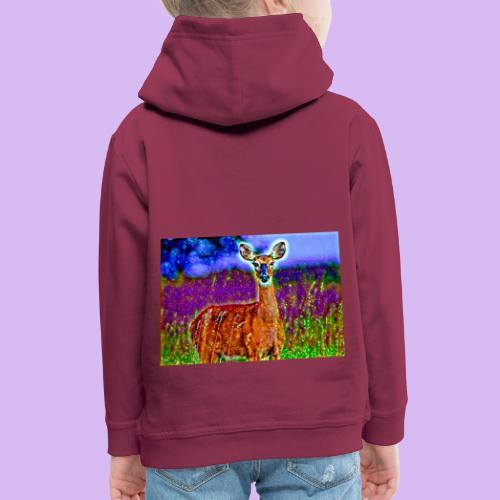 Cerbiatto con magici effetti - Felpa con cappuccio Premium per bambini