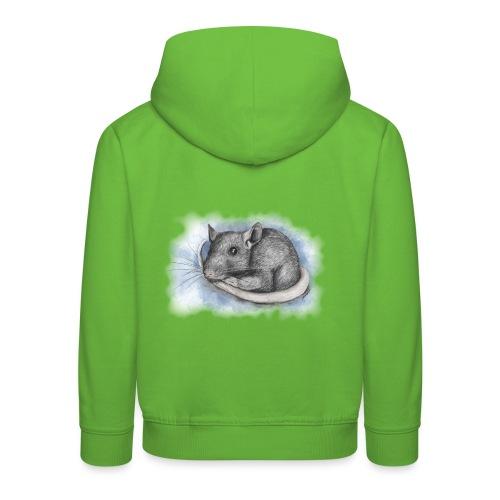 Rottapiirros - Värikuva - Lasten premium huppari