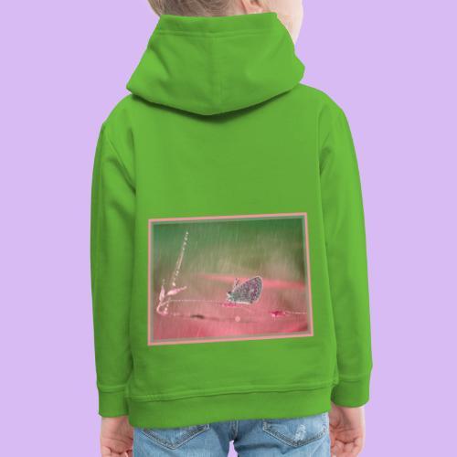 Farfalla nella pioggia leggera - Felpa con cappuccio Premium per bambini