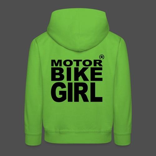 Motorbike Girl - Kids' Premium Hoodie