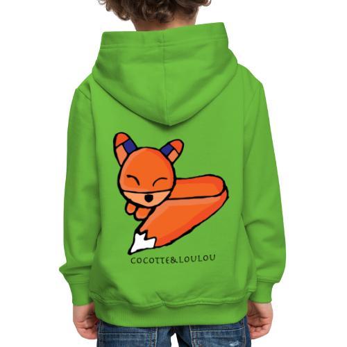 Edo le renard - Pull à capuche Premium Enfant