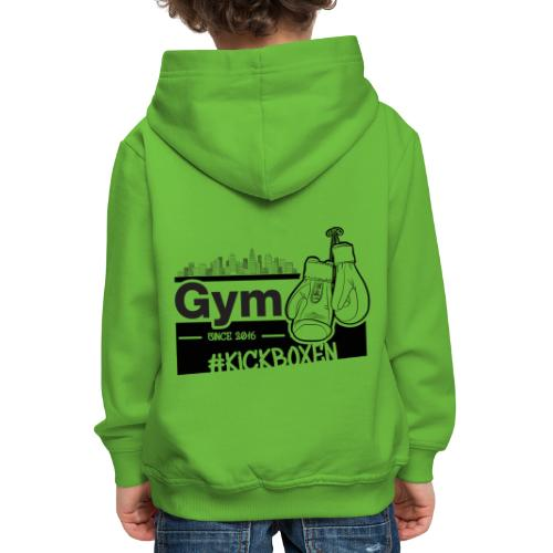 Gym in Druckfarbe schwarz - Kinder Premium Hoodie