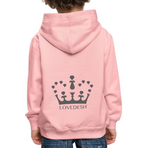 Lovedesh Crown (Dark Grey) - Kids' Premium Hoodie