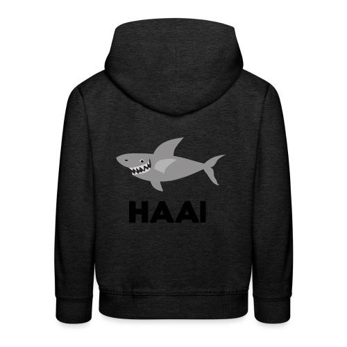 haai hallo hoi - Kinderen trui Premium met capuchon