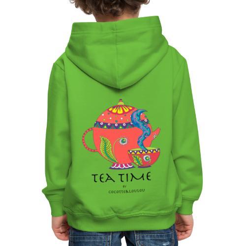 L'heure du thé - Pull à capuche Premium Enfant