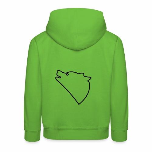 Wolf baul logo - Kinderen trui Premium met capuchon