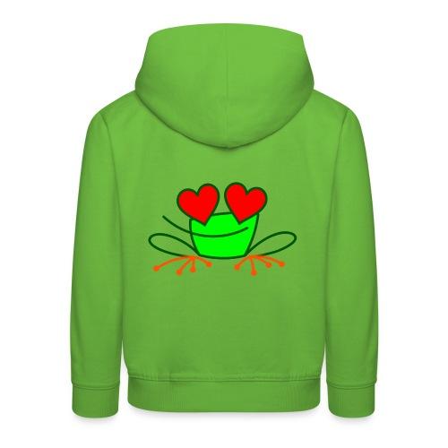 Frog in Love - Kids' Premium Hoodie