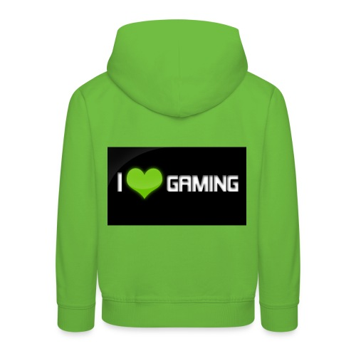 I Love Gaming Shadow Gamer - Kinder Premium Hoodie