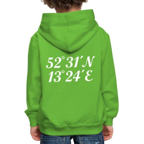 Berlin Koordinaten - Kinder Premium Hoodie