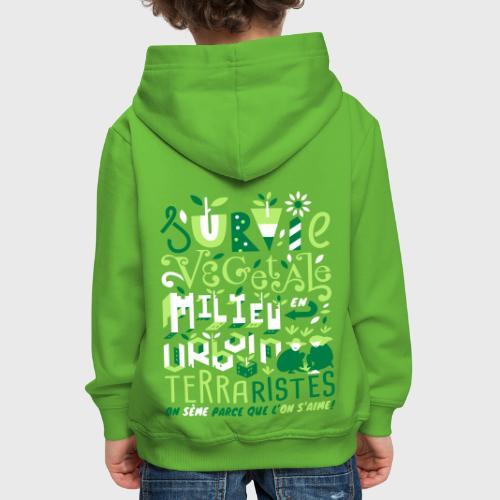 Green Guerilla - Pull à capuche Premium Enfant