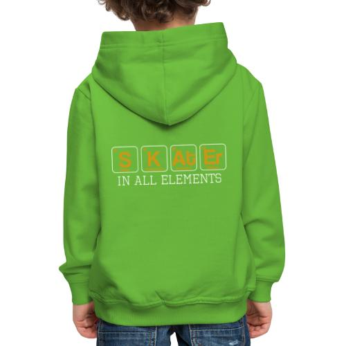 Skater In All Elements Periodic Table Science - Kinder Premium Hoodie