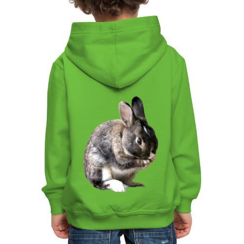 coniglio - Felpa con cappuccio Premium per bambini