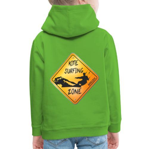 KITESURFING ZONE BREIZH - Pull à capuche Premium Enfant
