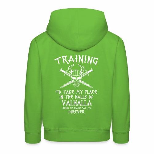 training for Valhalla - Sudadera con capucha premium niño
