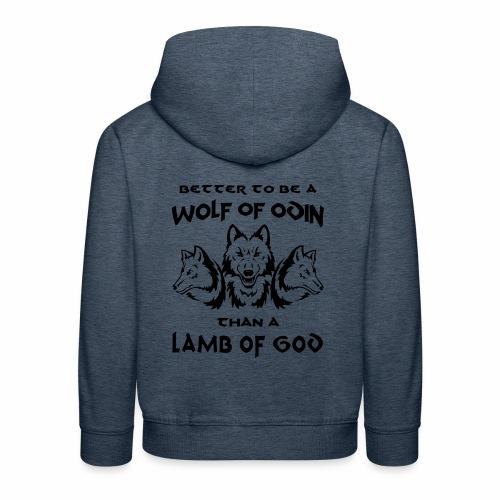 Wolf of Odin - Sudadera con capucha premium niño