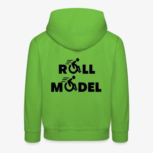 Elke rolstoel gebruiker is een roll model - Kinderen trui Premium met capuchon