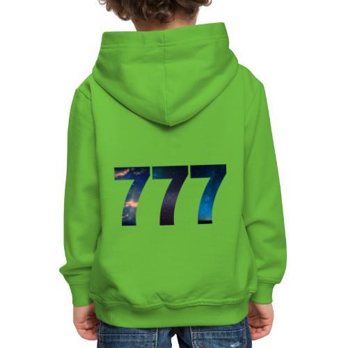 777 un nombre qui apporte chance et spiritualité - Pull à capuche Premium Enfant