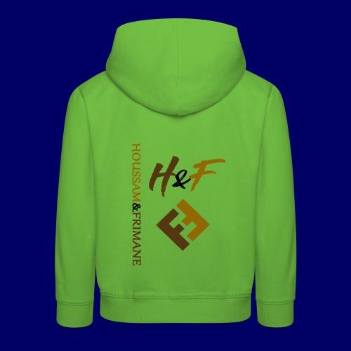 h&F luxury style - Felpa con cappuccio Premium per bambini