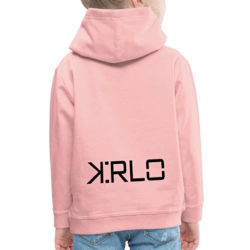Kirlo Logotipo Negro - Sudadera con capucha premium niño