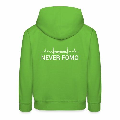 Never Fomo - Felpa con cappuccio Premium per bambini