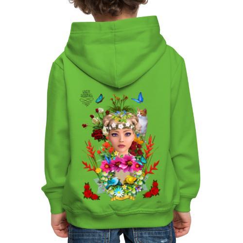 Lady spring -by- t-shirt chic et choc - Pull à capuche Premium Enfant