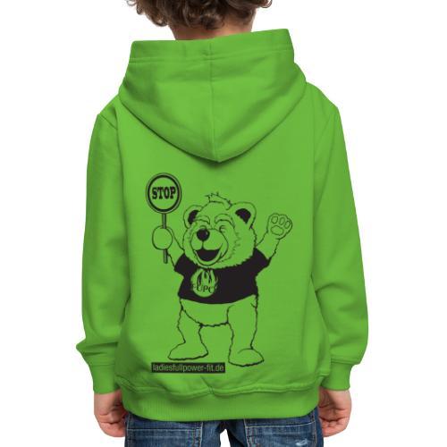 FUPO der Bär. Druckfarbe schwarz - Kinder Premium Hoodie