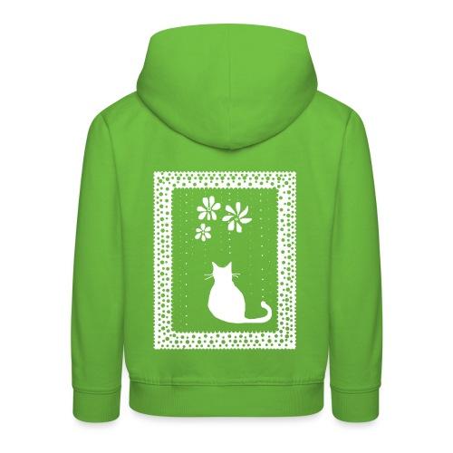 Poetic Kitty Cat by BlackenedMoonArts - Premium hættetrøje til børn