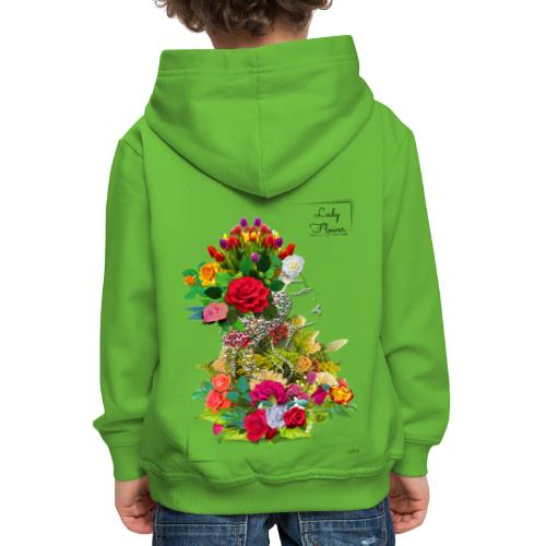 Lady flower -by- T-shirt chic et choc - Pull à capuche Premium Enfant