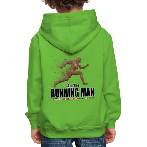 I am the Running Man - Sportswear for real men - Kids' Premium Hoodie