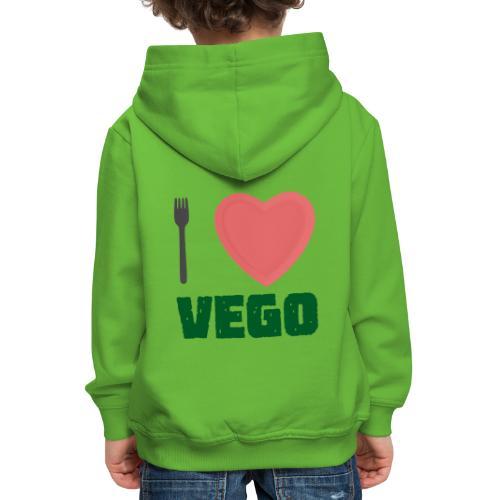 I love Vego - Clothes for vegetarians - Kids' Premium Hoodie