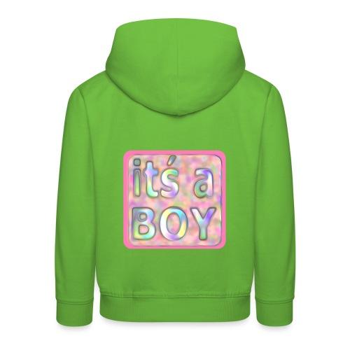 its a boy rosa text skylt - Kids' Premium Hoodie