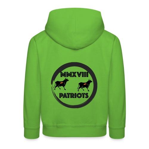 Patriots mmxviii - Sudadera con capucha premium niño