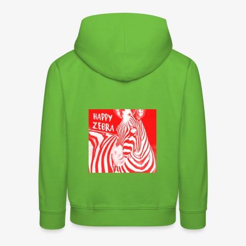 happy zebra - Pull à capuche Premium Enfant