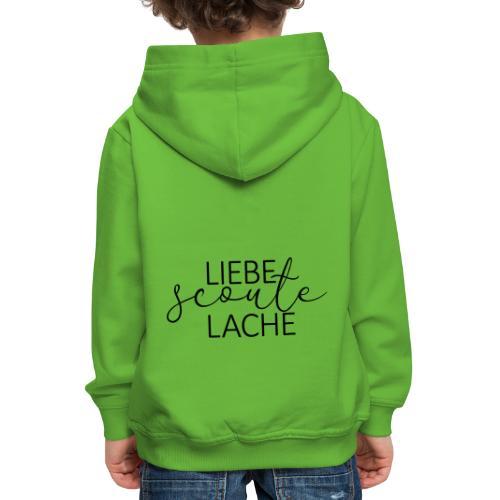 Liebe Scoute Lache Lettering - Farbe frei wählbar - Kinder Premium Hoodie