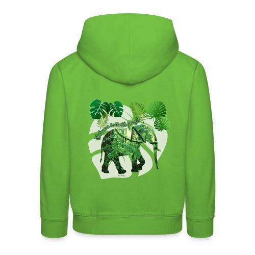 Dschungel - Elefant - Loxodonta cyclotis - Kinder Premium Hoodie