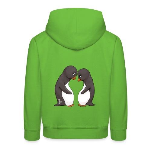 Twee verliefde pinguïns - Kids' Premium Hoodie