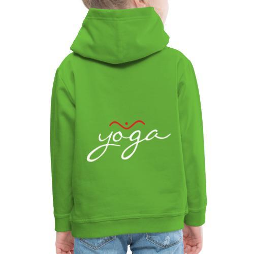 Yoga Balancing Typography And Emblem 2 - Kinder Premium Hoodie