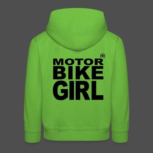 Motorbike Girl - Kinder Premium Hoodie