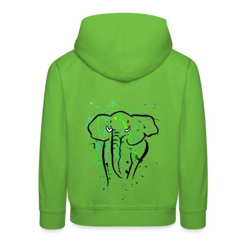 Afrikanischer Elefant - Kunst - Kinder Premium Hoodie