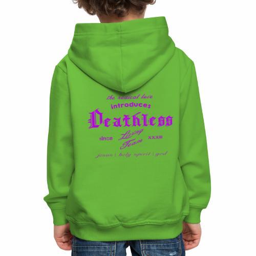 deathless living team violet - Kinder Premium Hoodie