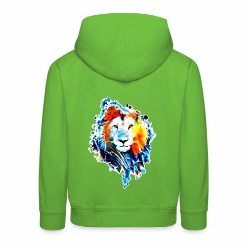 leon manchas BLANCO - Sudadera con capucha premium niño